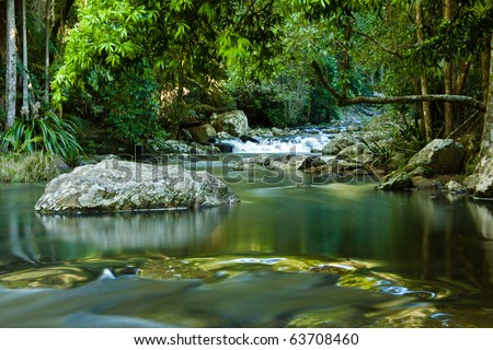 Purling falls, Springbrook, Queensland Australia - stock photo