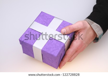 purple - stock photo
