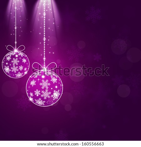 purple abstract christmas celebration background with magic