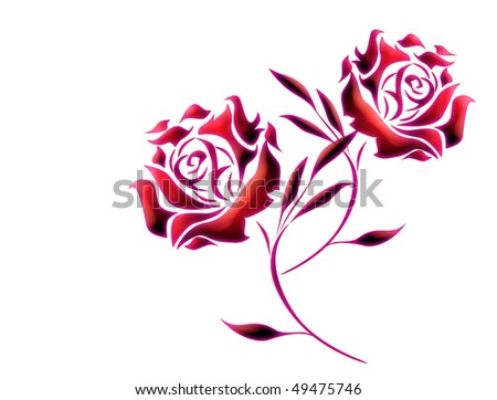 Purple and red roses background - stock photo