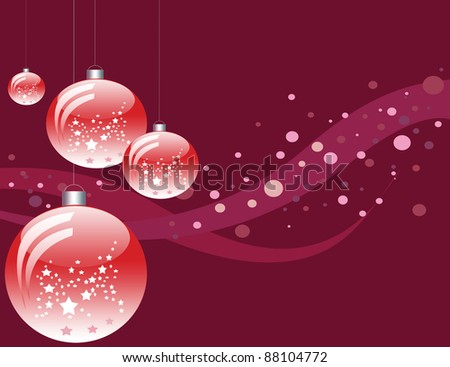 Purple background with four shining bulbs