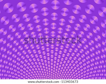 Purple Ball Fountain/Digital patterned image with a ball fountain design in purple on a purple background.