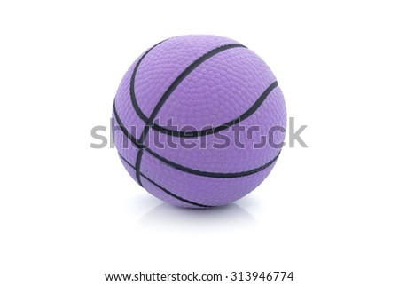 Purple balls isolated in white - stock photo
