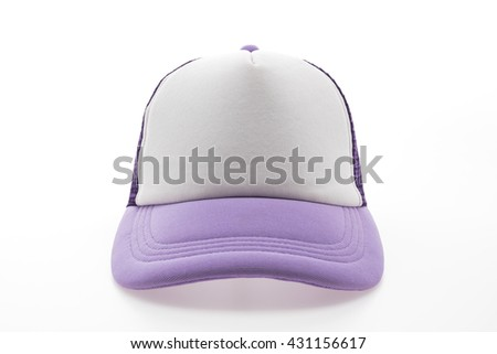 Purple Baseball cap or hat isolated on white background