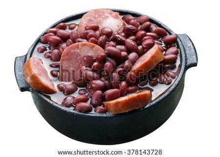 Purple bean feijoada - stock photo
