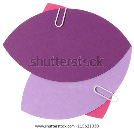 Purple blank eye form papers for notion - stock photo