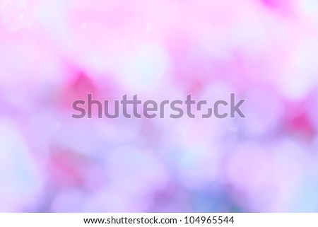 purple, blue and pink pastel colorful background bokeh blurred and morning lights - stock photo