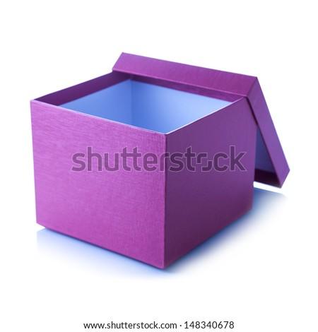 Purple box - stock photo