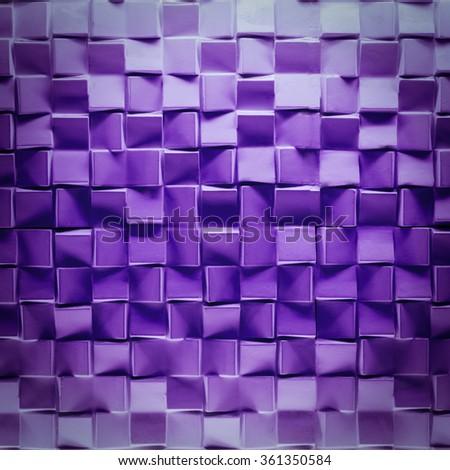 purple brick wall texture background - stock photo