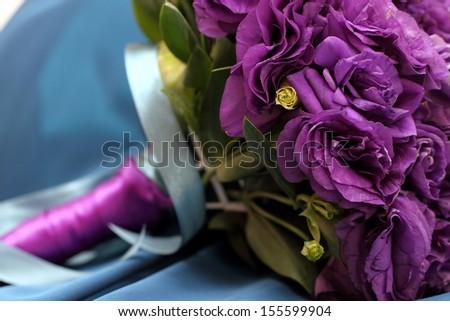 Purple bridal Bouquet - stock photo
