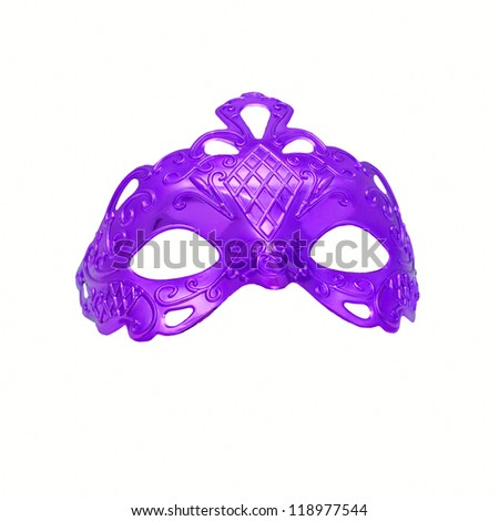 Purple carnival mask. Isolated on white background