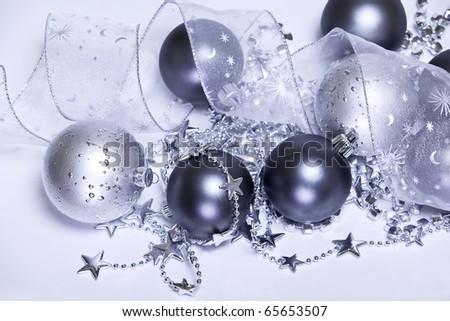 Purple Christmas decoration - stock photo