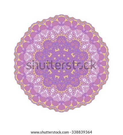 Purple circular pattern. Purple  abstract background. Raster version - stock photo
