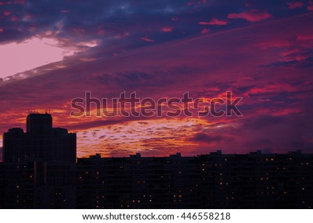 Purple City sunset