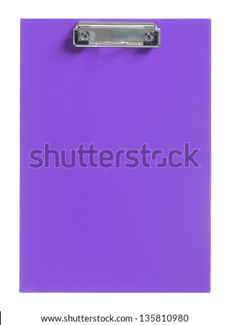 purple clipboard - stock photo