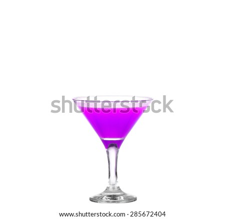 Purple cocktails on white background. - stock photo