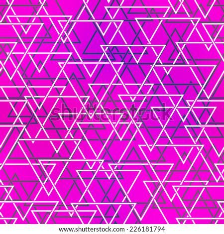 purple color triangle seamless pattern (raster version) - stock photo
