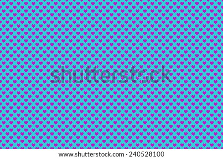 Purple Colored Heart Shape with blue background - stock photo