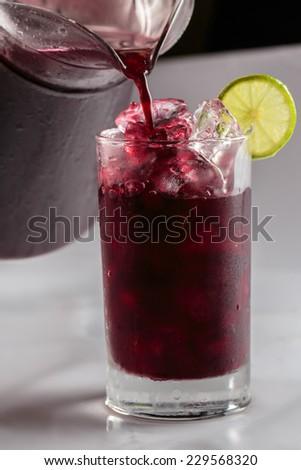 Purple corn fresh drink, Peruvian drink - stock photo