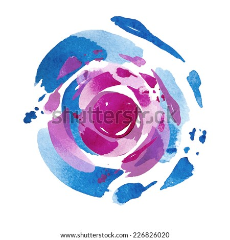 purple cosmic watercolor background  - stock photo