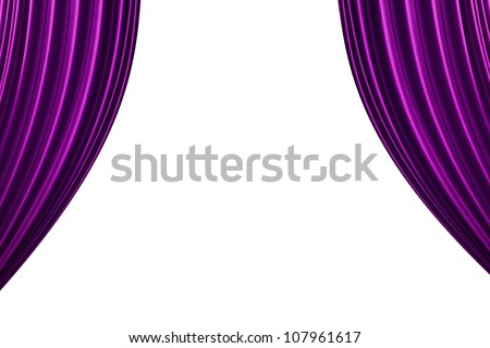 Perfect Purple Curtain Background.