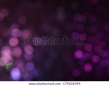 Purple Dark Bokeh Background - stock photo