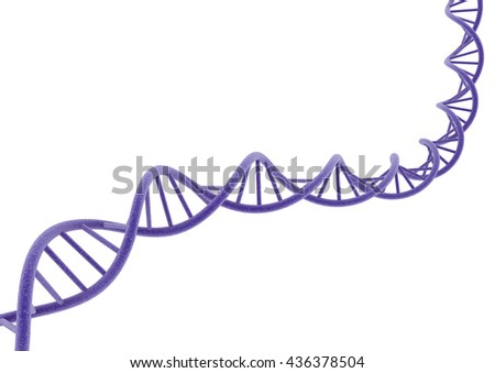 purple DNA. 3D illustration.