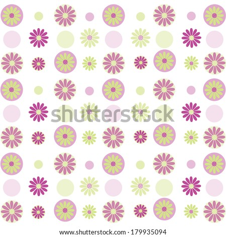 Purple Floral Pattern - stock photo