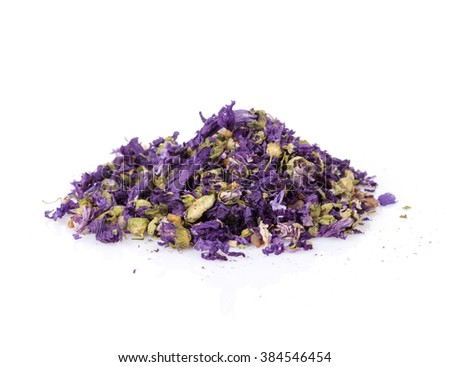 Purple flower spice. Isolated on white background