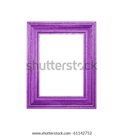 Purple Frame an white background - stock photo
