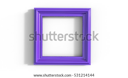 Purple Frame 3D Illustration on a white background