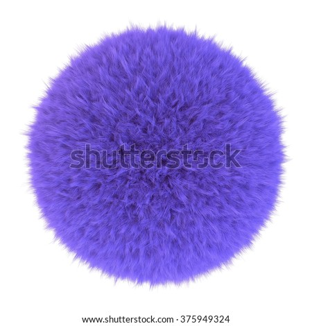 Purple fur sphere, 3D render