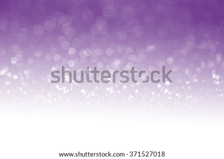 Purple glitter surface with purple light bokeh with white empty copy space - It can be used for background for special occasions promotion campaign or product display - stock photo