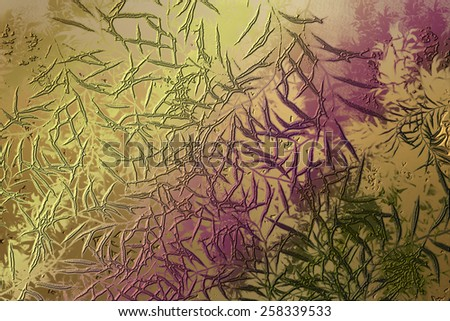 Purple golden abstract   background , with   painted  grunge background texture for  design .