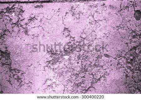 Purple grunge concrete wall - stock photo
