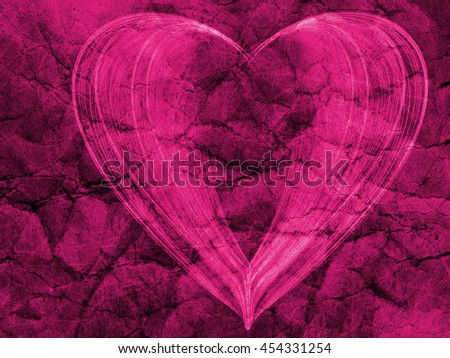 purple heart lovely grunge textured background, abstract romantic textured backdrop