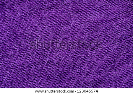 Purple knitted cotton fabric texture background. - stock photo