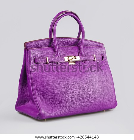 purple lady's bag - stock photo