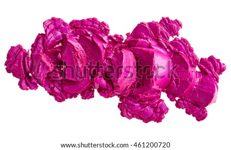 Purple lipstick isolated on white background