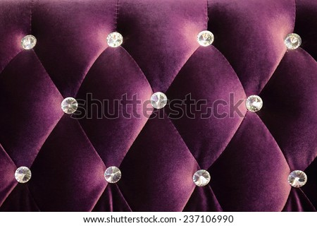 Purple luxurious background and texture shot from a sofa - stock photo