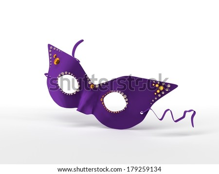 Purple mask - stock photo