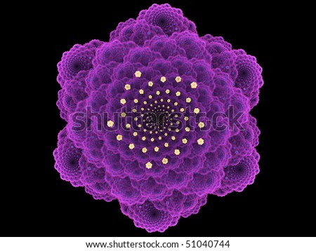 Purple Mathematical Flower