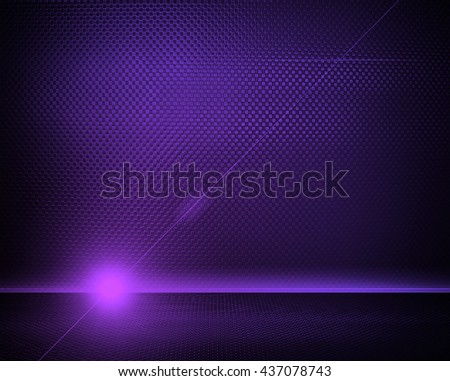 purple metal interior with lighting background