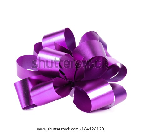 Purple packaging band. Isolated on a white background. - stock photo