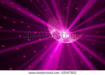 purple party lights background - stock photo