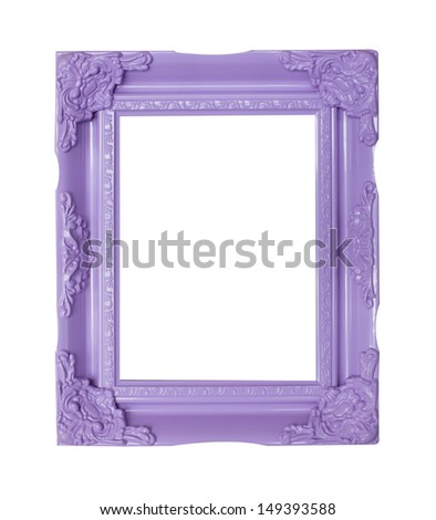 purple  picture frames - stock photo