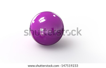 purple pink 3d model of a sphere ball
