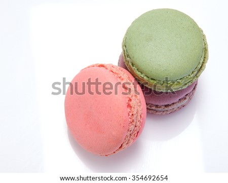 purple, pink, macarons