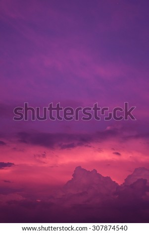 Purple Pink Sunset