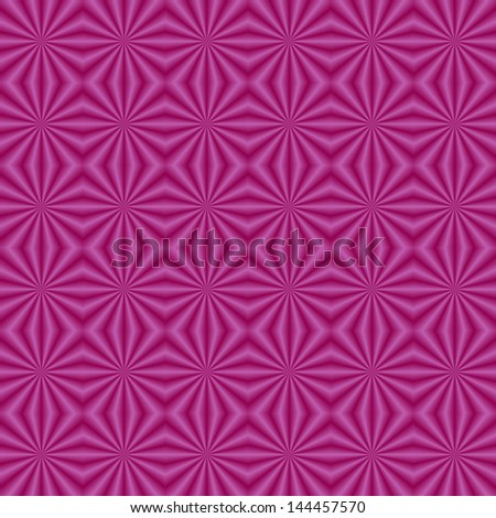 Purple Quilted Pattern / Digital abstract fractal image with a tiled sunbeam design in green and pink.